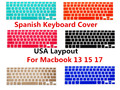 Spanish ESP Silicone Keyboard Cover Skin Cover Protective Film Protector For MacBook Pro Air With Retina 13 15 17 USA Version