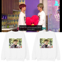 Kpop Home New BTS Bangtan Boys Same Vapp Live JUNG KOOK Brother Complex Printed Fashion Sweatshirt