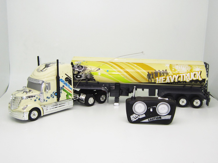 Kingtoy Detachable Electric Remote Control Big Size 1:32 RC 6CH container heavy truck with lights and sounds 4 Colors  remote control 1 32 detachable rc trailer truck toy with light and sounds car