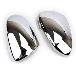 Image 2 - Pour Hyundai Tucson 2016 2017 2019 Chrome côté porte miroir couverture vue arrière bouchon moulage garniture superposition protecteur voiture style 2 pièces