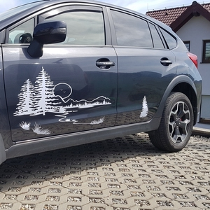 Image 3 - Hunt Forest Reindeer Decal Hunting Club Buck Sticker Hollow Sticker Hunter Car Window Vinyl Decal Poster Motorcycle