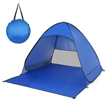 Ultralight Beach Tent For 2 Person Automatic Fishing Camping Instant Pop Up Outdoor Uv Protection Shelter