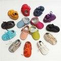 Clásicas de Primavera y Otoño Bebé Recién Nacido Niñas Niños Boy Cuero Genuino Franja Infantil Primeros Caminante Zapatos Rojos Vendidos Cuna Zapatos de Los Niños