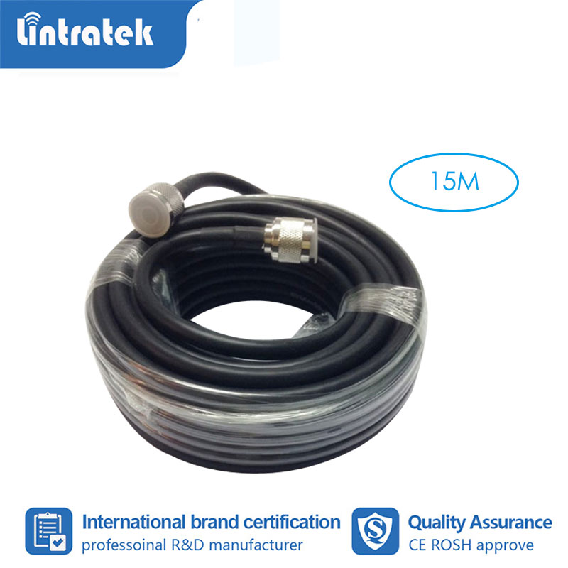 Lintratek 15 Meter Coaxial Cable N Male To N Male For Mobile Phone Signal Booster Repeater Amplifier #3