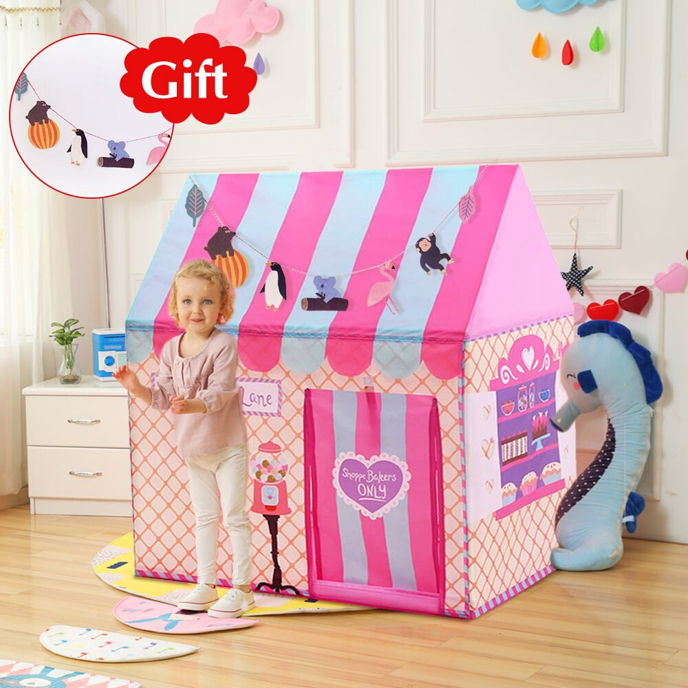Free Gift YARD Kids Toys Tents Kids Play Tent Boy Girl Princess Castle Indoor Outdoor Kids House Play Ball Pit Pool Playhouse