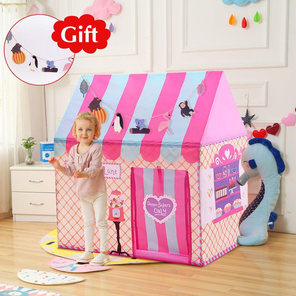 Regalo gratis patio juguetes tiendas los niños juegan tienda niño niña princesa Castillo de interior al aire libre casa jugar bola Pit piscina casa de muñecas