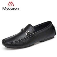 MYCORON минималистский дизайн весна/осень стильные мокасины ручной работы мужские лоферы Высокое качество обувь из натуральной кожи мужская о