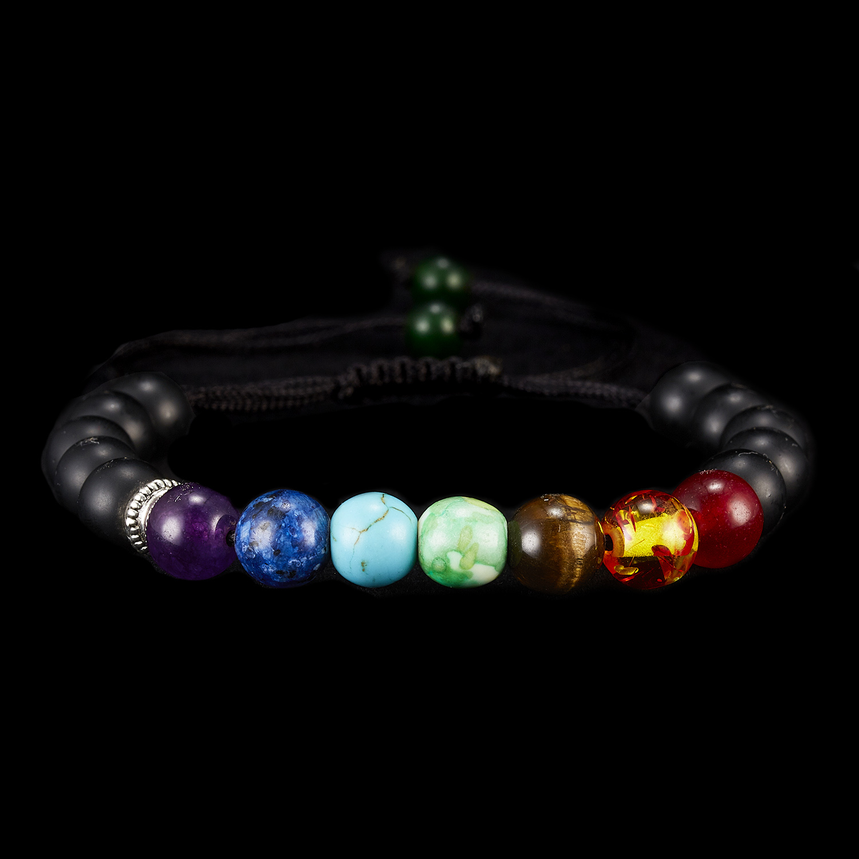 Classic Chakra 8mm Lava Stone Beads 7 Color Chain Bracelets for Women Men Elastic Rope Yoga Fashion A Bracelet Friendship 2