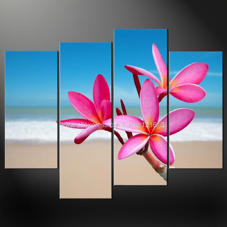 Tropical Flowers Premium Cascade Canvas Picture Size Variety Oil Paintings Hand Painted Wall Designs Wall Panel Art Class Panel Art Art Designart Class Aliexpress