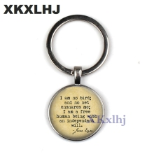 I Am Not A Bird Free Human With Independent Will Reference Keychain Charlotte Jane Eyre Book Booking Lover Gift
