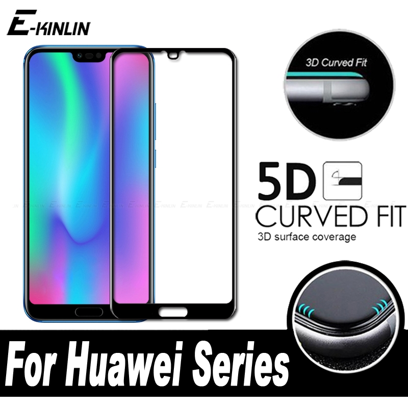 5D 3D Curved Edge Preminum Toughened Full Cover Tempered Glass For Huawei Honor 10 Screen Protector Protective Film