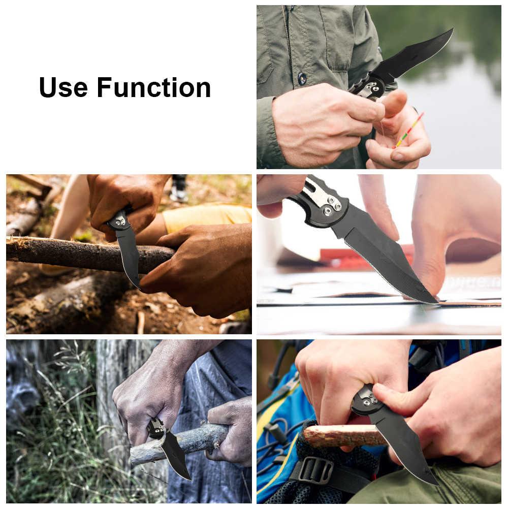 JelBo แบบพกพามีด Outdoor Survival เครื่องมือ 3cr13 ใบมีดเหล็ก Mini ผลไม้มีดพับอุปกรณ์ยุทธวิธีมีดล่าสัตว์