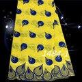 ZQC36 venta Caliente africano cordón suizo de la alta calidad mejor algodón africano tela de encaje para la boda 5 yardas/pieza