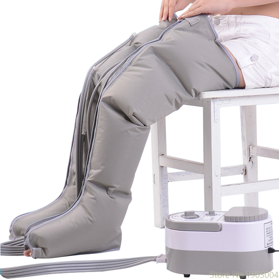 Masseur pneumatique de jambe pétrissant l'instrument de Massage de jambe de pied Massage électrique de physiothérapie de pression d'onde d'air