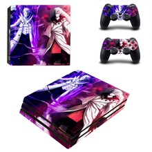 Anime Naruto PS4 Pro Skin Sticker For Sony PlayStation 4 Console and 2 Controllers PS4 Pro Stickers Decal Vinyl