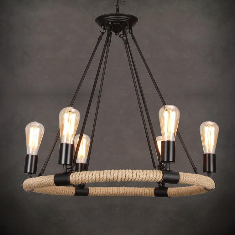 Vintage Personality Industrial Lighting American Industrial LOFT Bar Cafe Decor Hanging Lamp Edison Bulb AC90-260V