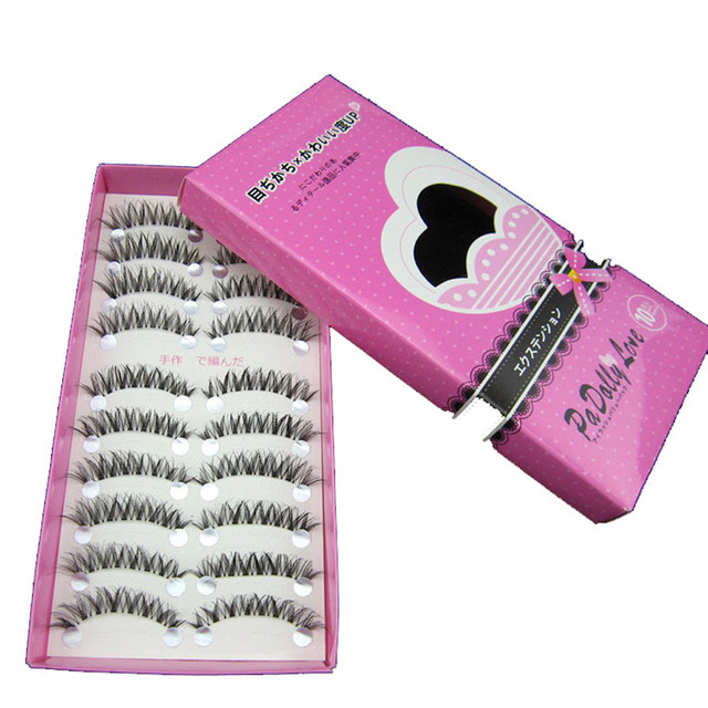 10 Pares Novos Cílios Postiços Feitos À Mão Preto Longo Grosso Natural Falso Eye Lashes Extensão Maquiagem Ferramentas de Beleza MY233
