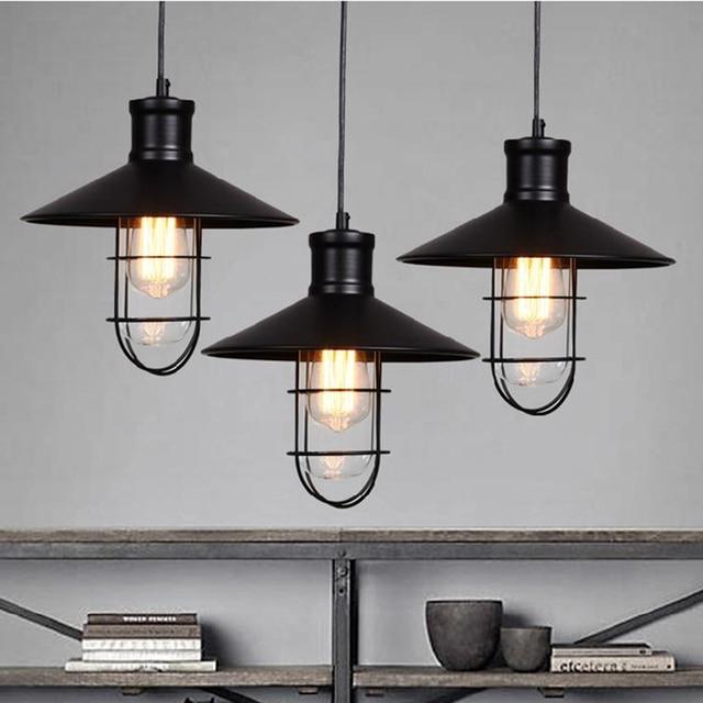 Rustic Pendant Light Industrial Pendant Lights Vintage led ...