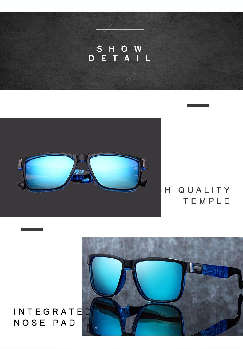 ASUOP 2019 New Men's Polarized Sunglasses UV400 Fashion Square Ladies'Glasses Classic Retro Brand Design Driving Sunglasses (7)