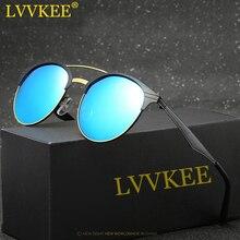 Lvvkee 2017 new hd lente polarizada gafas de sol de los hombres/mujeres marca retro gafas de sol de marco de metal gafas de sol de conducción gafas de sol mujer
