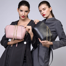 HOT ZOOLER genuine leather bag brands women bag 2016 new serpentine pattern women Shoulder Bag cowhide cross body #1211