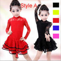 Girls Kids Child Ballroom Latin Salsa Dress Clothes Junior American Sexy Latin Dance Costume Cheap Latin Dance Dress For Sale