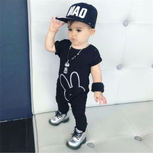 Baby Romper Infant Jumpsuit Rabbit-Head Newborn Black Fashion Summer Short Prints Hot-Selling