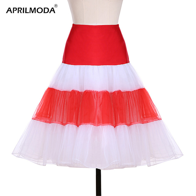 77c4429c35 Vintage Tulle Petticoat Crinoline Underskirt Rockabilly Swing Tutu Skirt  Slip Gown Vintage Petticoats 1950s Midi Women Skirts