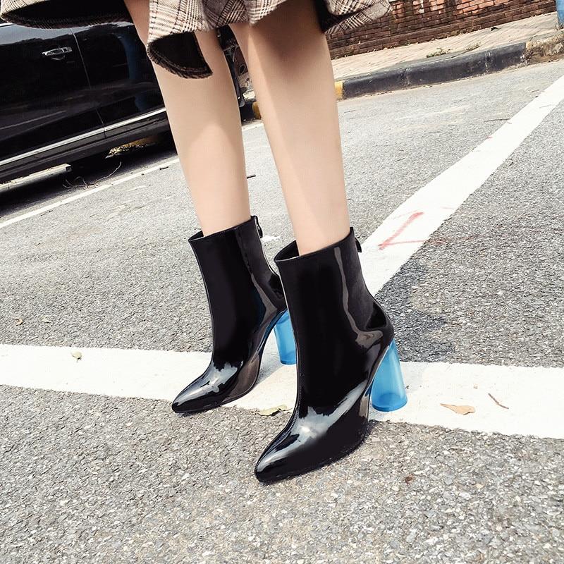 De Cuero 2019 blanco Calidad Botas La Las Tacones Moda Fiesta Alto Negro Tacón Fetiche Dama Mujer Primavera 10 Mujeres Azul Zapatos Cm vv1n7xrEw