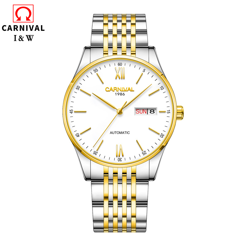 New 2019 Automatic Watch Men Carnival Mechanical Mens Watches Waterproof Stainless Steel Wristwatch Clock reloj hombreNew 2019 Automatic Watch Men Carnival Mechanical Mens Watches Waterproof Stainless Steel Wristwatch Clock reloj hombre