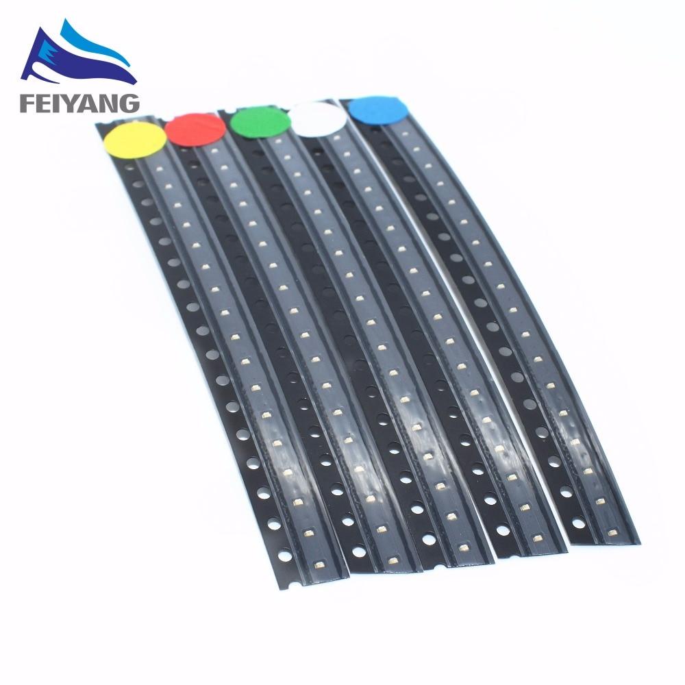 0402 ультраяркие светодиодные лампы R G B W Y 0402 1005 SMD, белые, красные, зеленые, синие, желтые, 5х200 шт., 1000Pcs1, 0*0,5*0,4 мм