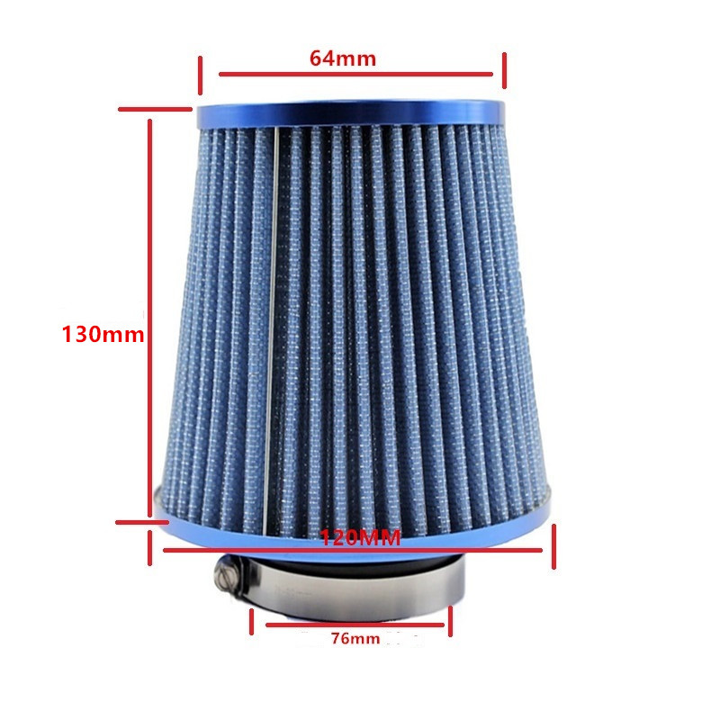 Image 3 - Universal Car Air Filters Performance High Flow Cold Intake Filter Induction Kit Sport Power Mesh Cone 55MM to 76MM-in Air Filters from Automobiles & Motorcycles