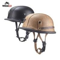 Motorcycle Racing Vintage Helmet Half Face Retro Moto Helmet Scooter Motocross Helmets Crash Helmet Hot Sale Unisex Summer DOT