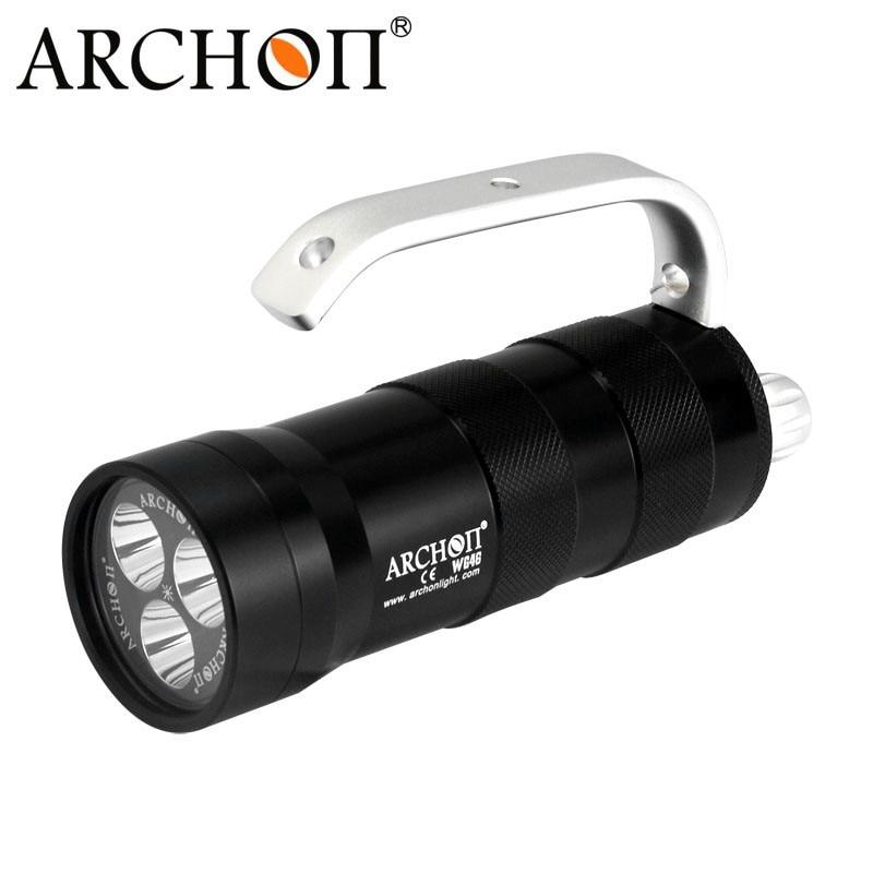 ARCHON DG40 CREE XM-L2 U2 3*LED 2000 lumen Diving Flashlight by 18650 Battery ultrafire m3 t60 3 mode 910 lumen white led flashlight with strap black 1 x 18650