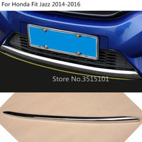 Car cover protection Bumper engine trim Front bottom Grid Grill Grille hoods edge For Honda Fit Jazz 2014 2015 2016