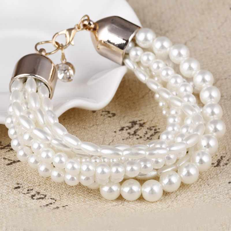 ZOSHI Fashion Accessories Simulated Pearl Women's Multi-layer Elastic Bracelet Accessories Wrist Bracelets & Bangles Ladies