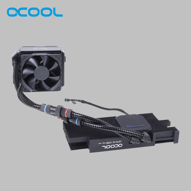 Original Alphacool Graphics card integrated water-cooled radiator for Gigabyte AORUS Geforce GTX 1080/1080 Ti xtreme edition image