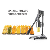 GZZT Manual Potato Chips Squeezers 30CM Long American Fried Potato Chip Maker French Fries Cutter Maker Potato Chips Machine