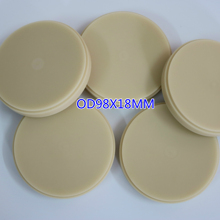 10Pieces Dental PMMA Blocks Disk Lab Material PMMA Temporary Crown Blank Discs Consumables A1 A2 A3 Transparent Acrylic Block a1 a2 a3 and clear dental pmma resin disc 98 14mm for cad cam dental lab materials with step