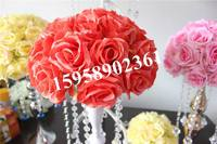 SPR 50cm 2pcs/lot New Arrivals Silk Kissing Rose Flowers Ball for Wedding Party Decoration Several Colors Available