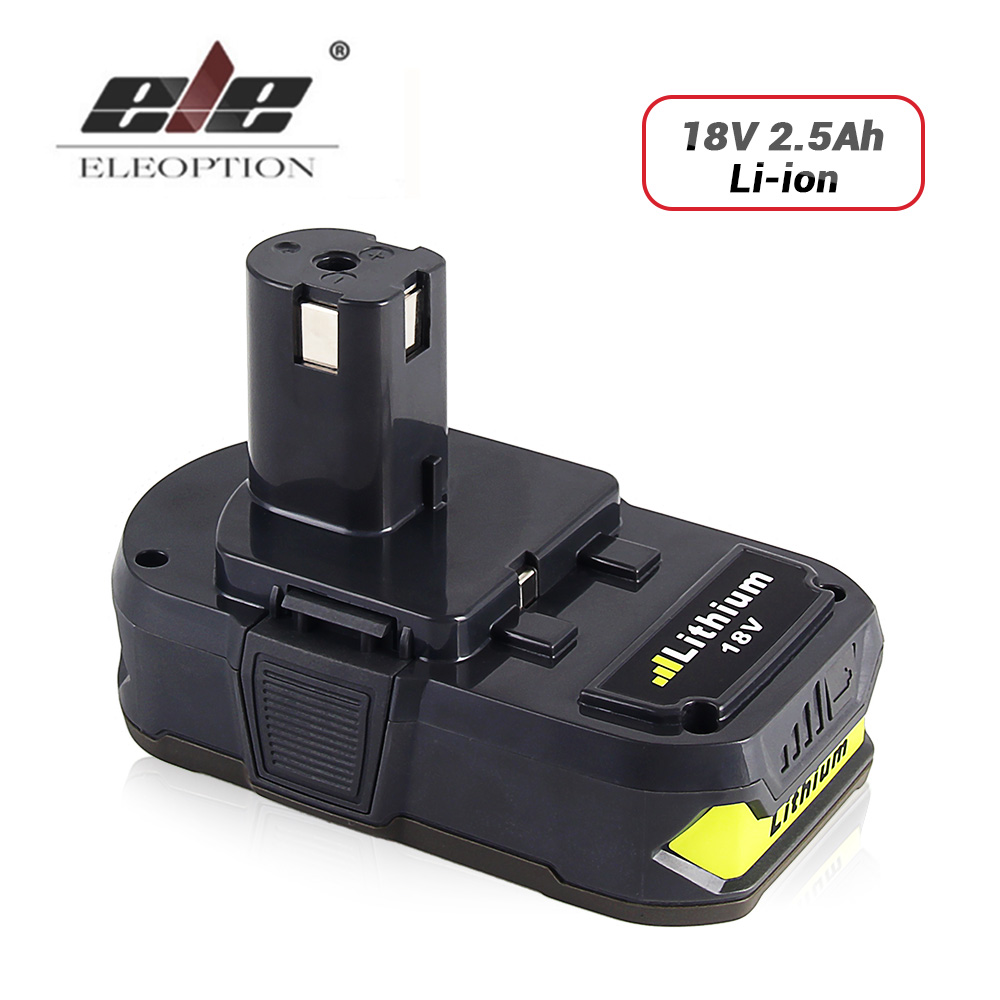 RB18L25 Rechargeable Battery For Ryobi 18V 2500mAh Li-Ion One Plus for power tool P103 P104 P105 P108 18v 5000mah li ion battery for ryobi p108 p107 p106 p105 p104 p103 p102 power tool battery high quality