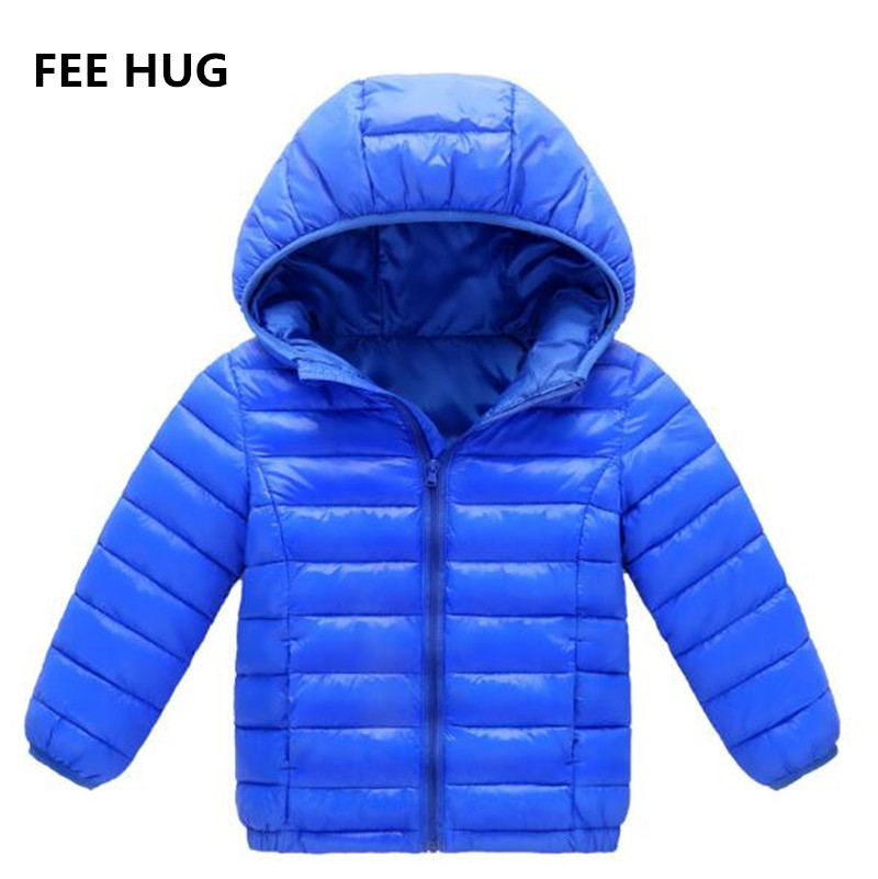 Winter Girls Down Cotton Coats 2017 Children Light Girl Jacket Spring Autumn Hooded Toddler Teenage Jackets for Boys 3-16Y casual 2016 winter jacket for boys warm jackets coats outerwears thick hooded down cotton jackets for children boy winter parkas