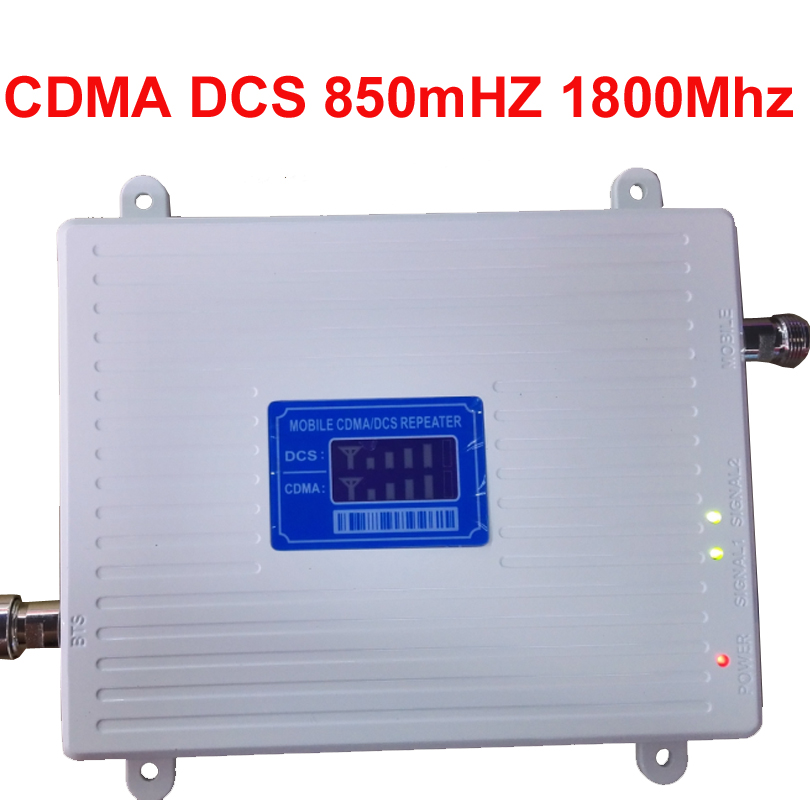 Lcd Display Cdma 800mhz+DCS 1800Mhz Repeater Dual Band Signal Amplifer Mobile Phone Signal Booster CDMA Repeater 4G LTE Booster