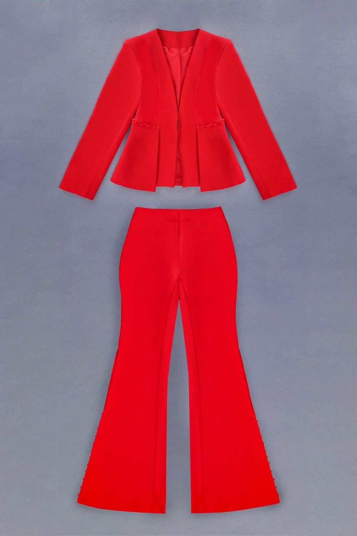 Longues Costume V Gros Col De Mode En Rouge Club À Ol Élégant Costumes Noël Celebrity Manches Sexy Night Style Party OTqZHfAOn