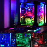 Coolo 50 100 120 200cm Magnetic RGB LED Strip Light PC Computer Case Magnetic Strip Light