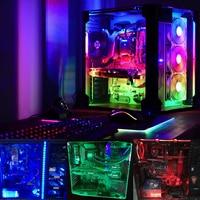 Coolo 50 100 120 200cm Magnetic RGB LED Strip Light PC Computer Case Magnetic Strip Light