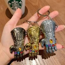 Marvel Avengers 4 Infinity War Thanos Infinite Power Glove Toy Gauntlet 3D Model Keychains Keyring Cosplay Toys For Children
