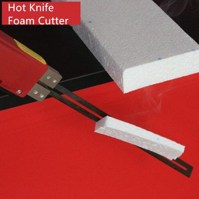 купить 220V Foam Cutting Tool Electric Hot Knife Foam Cutter Professional Thermal Cutting Equipment Hot Heating Cutter 100W 5cm Blade онлайн