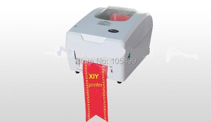 Good quality fabric ribbon printer hot foil ribbon printing machine specially ribbon label printer shipping by