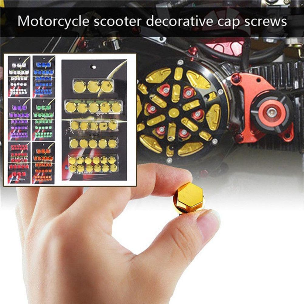 Pack of 30 Universal Chrome Motorcycle Scooter Screw Nut Bolt Cap Cover Decor